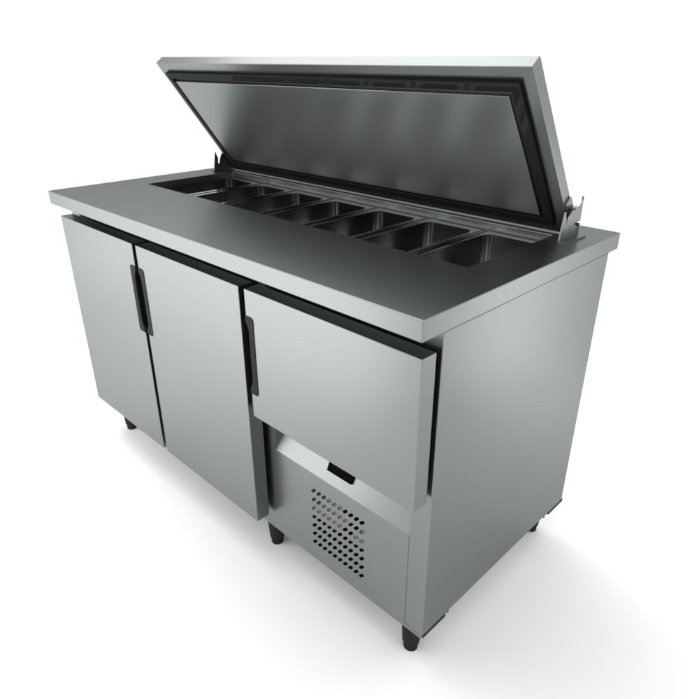 Refrigerador Horizontal para embutir 07 GNS